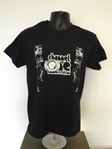 Channel One T-Shirt Skanking Figures  - Gildan Cotton Black/White  (Various sizes)